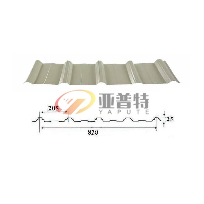 隐藏式屋面板YX25-205-820