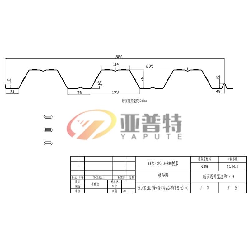 YX76-293.3-880板形