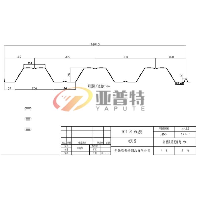 YX75-320-960板形