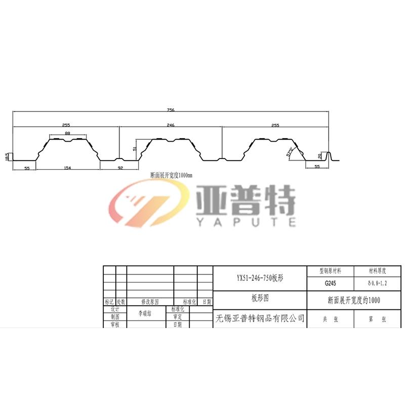 YX51-246-750板形