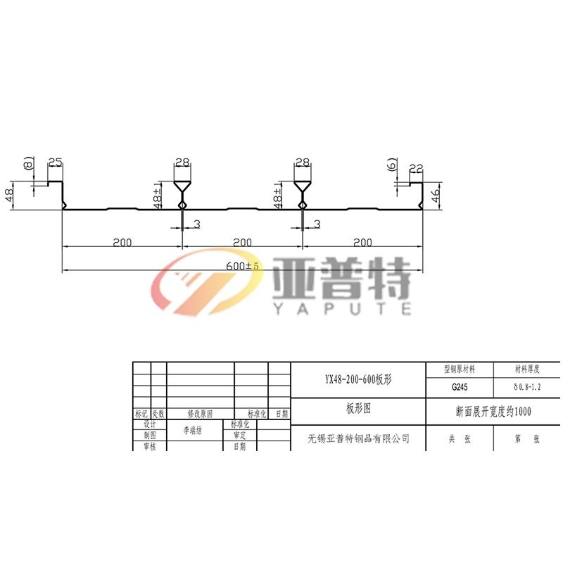 安徽YX48-200-600板形