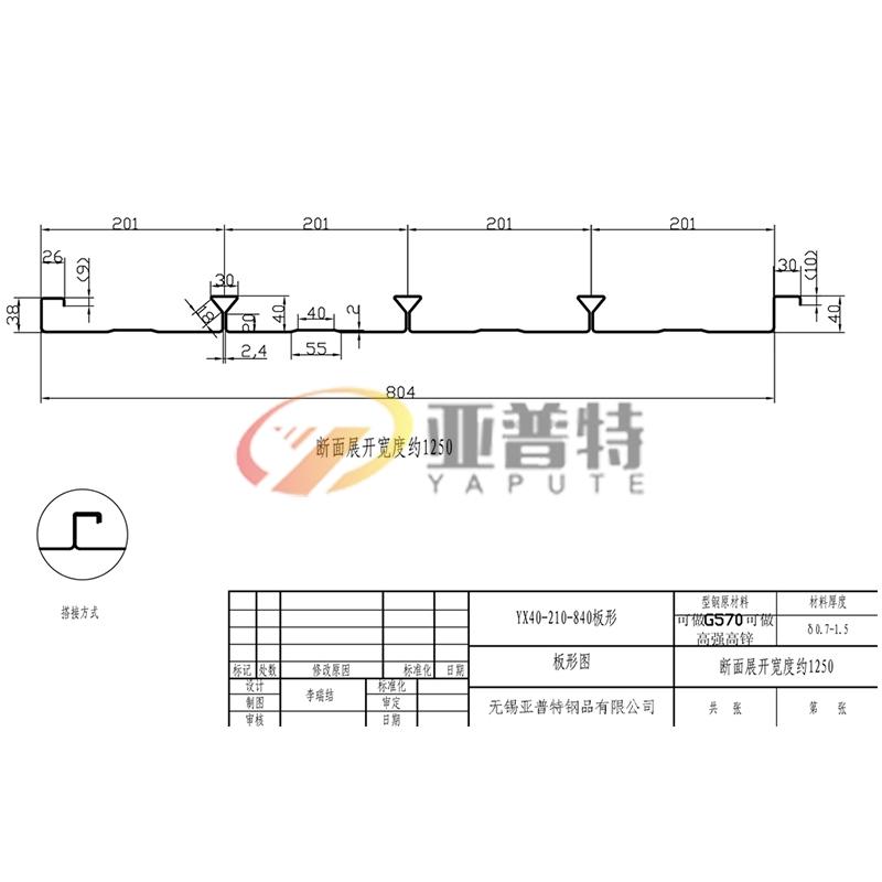 安徽YX40-210-840板形