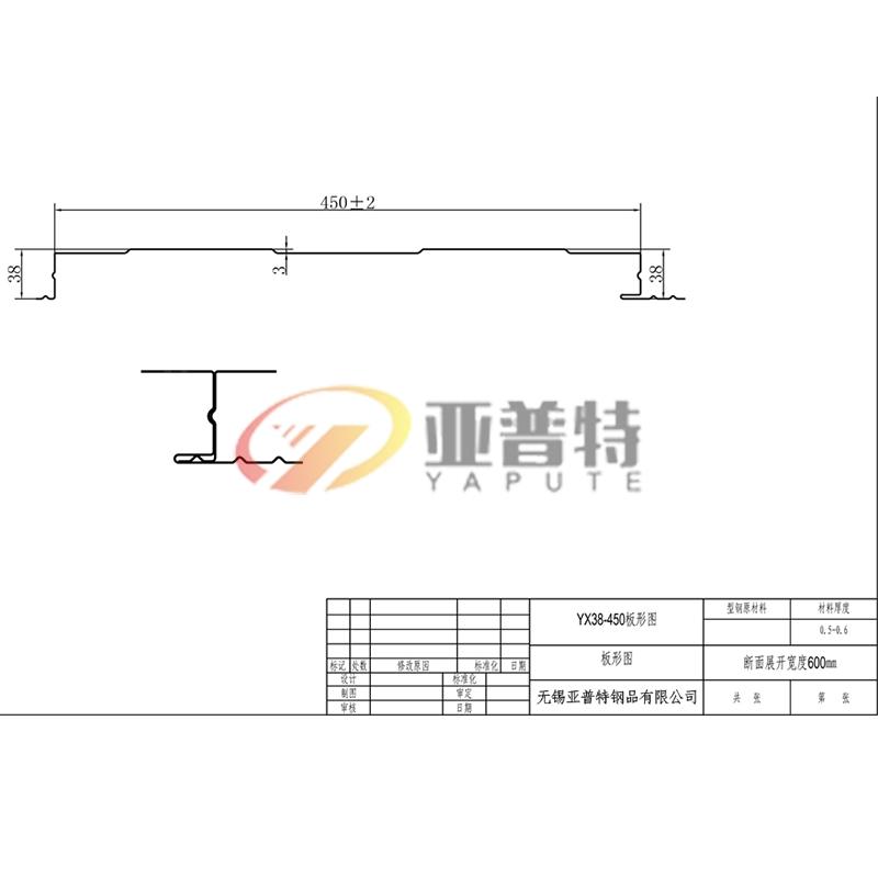 安徽YX38-450板形图