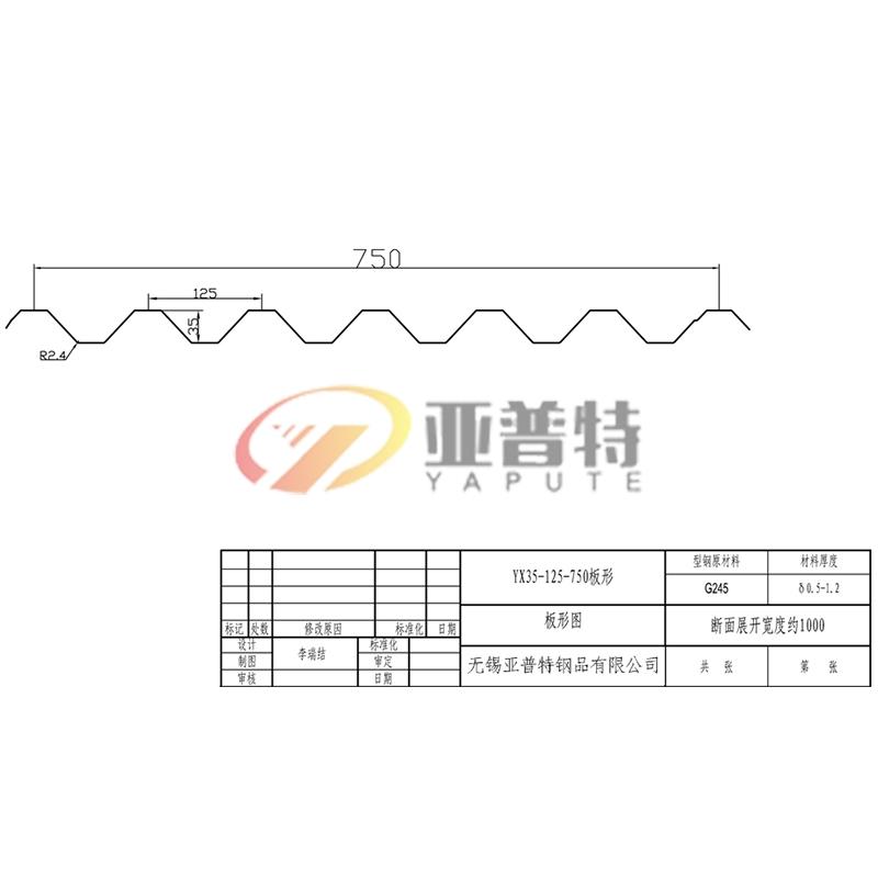YX35-125-750板形